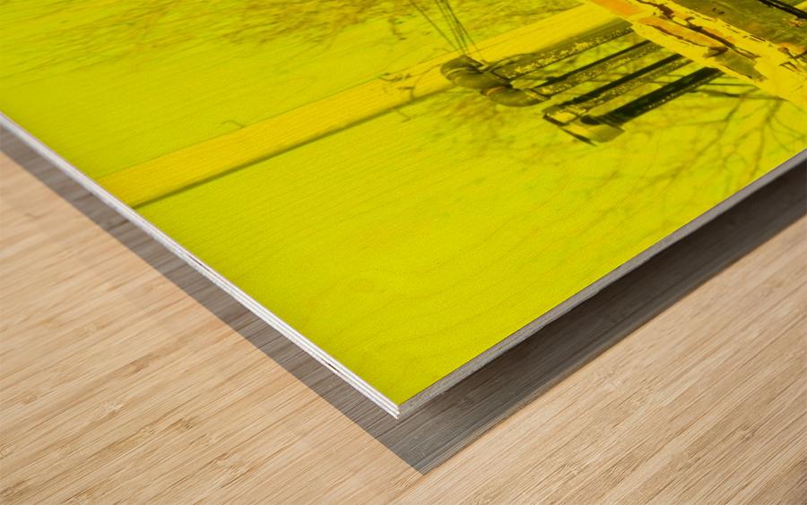 A (14) Wood print