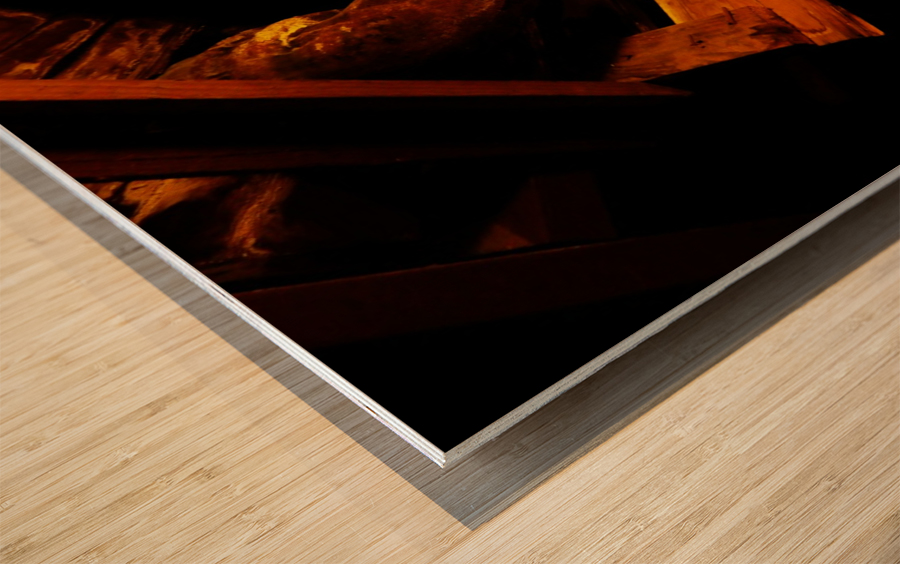 H (1) Wood print