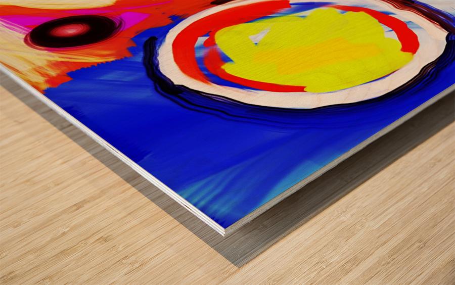 Abstract Mess_OSG  Wood print