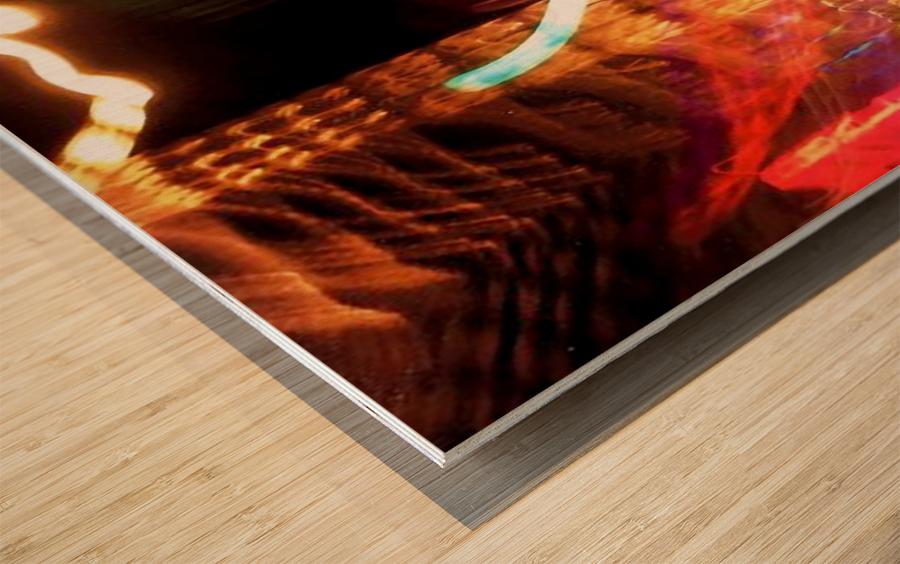 Dancing Light Wood print