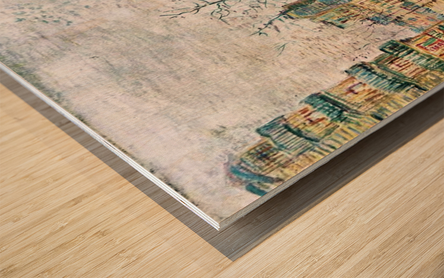 Boulevard de Clichy by Van Gogh Wood print