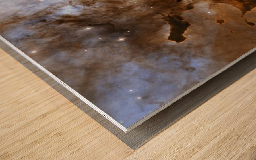 Carina Nebula Star-Forming Pillars. Wood print