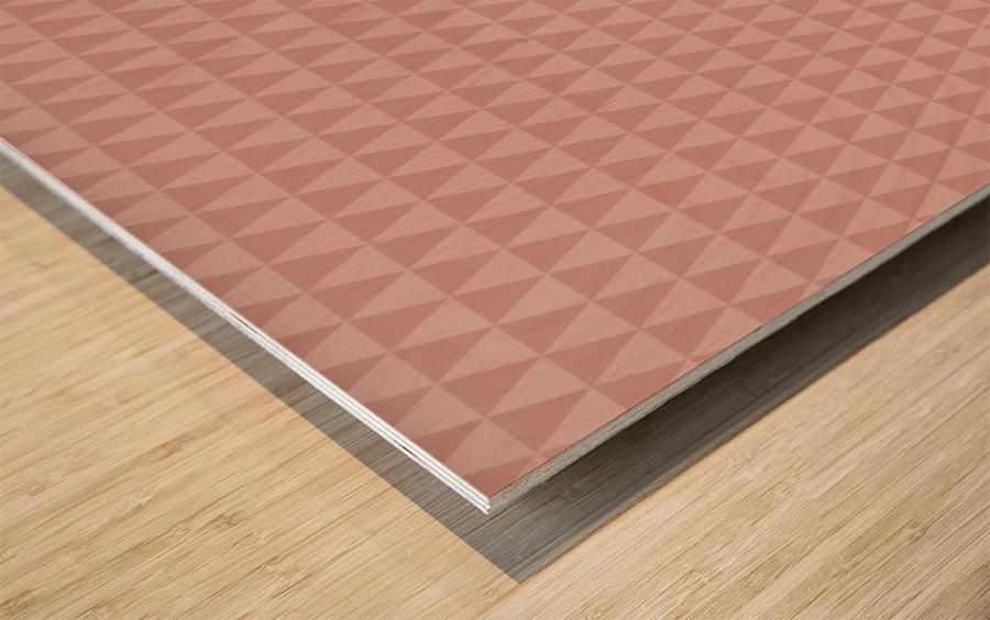ORANGE Triangle Shape Seamless Pattern Background    Wood print
