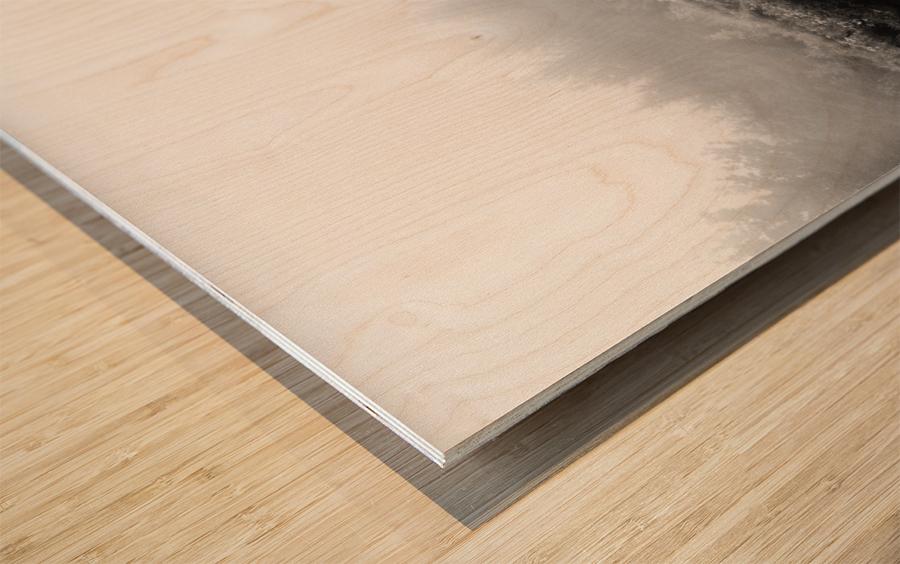 Brume Matinale Impression sur bois