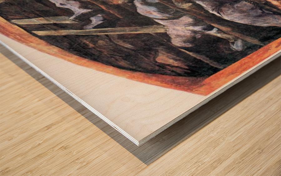 Dead victims, design (II) by Albin Egger-Lienz Wood print
