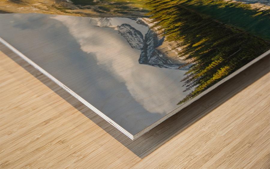 Upper elk lake  Wood print
