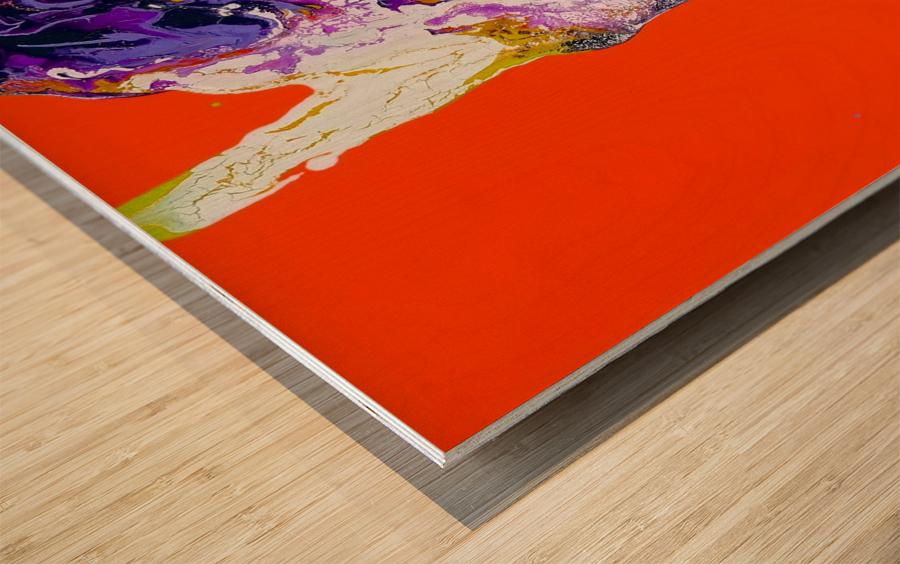 The Shape Wood print