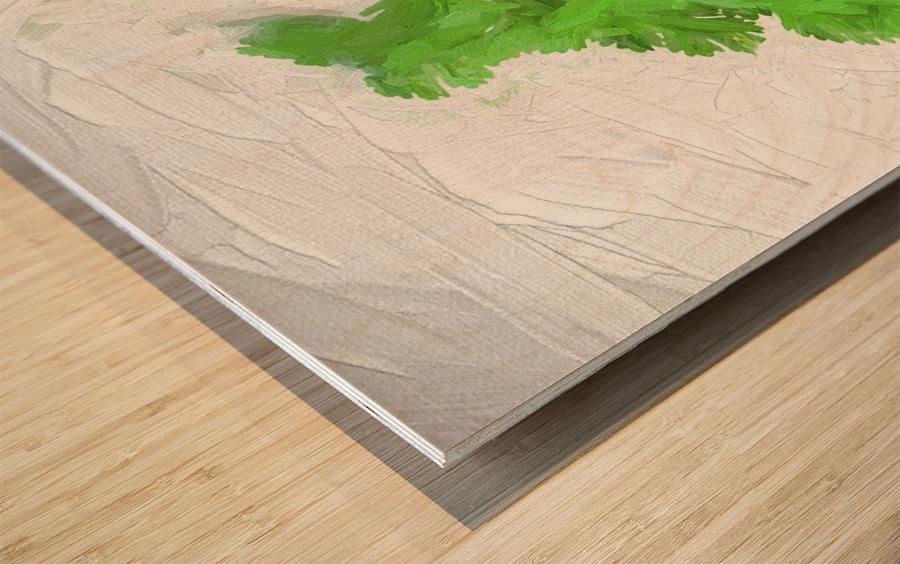 Cilantro Wood print