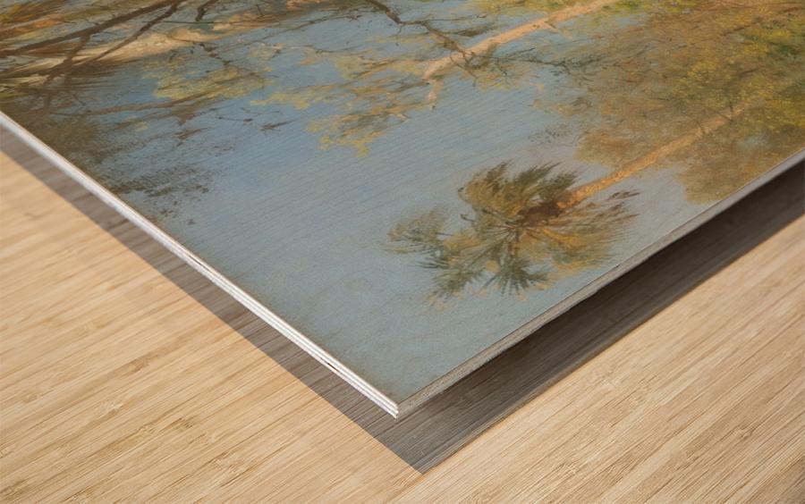 Riverscape Wood print