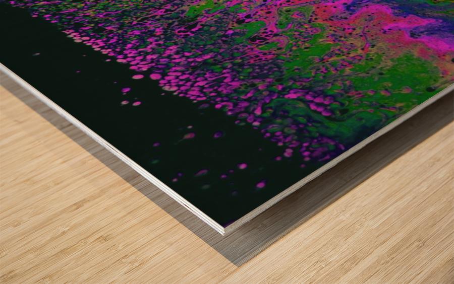 Bubbles Reimagined 55 Wood print