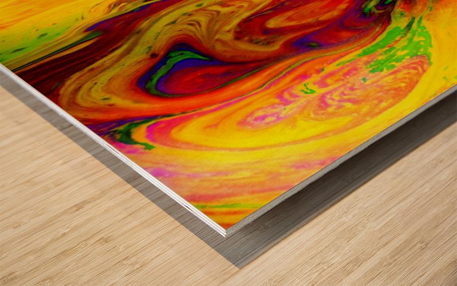 Bubbles Reimagined 53 Wood print