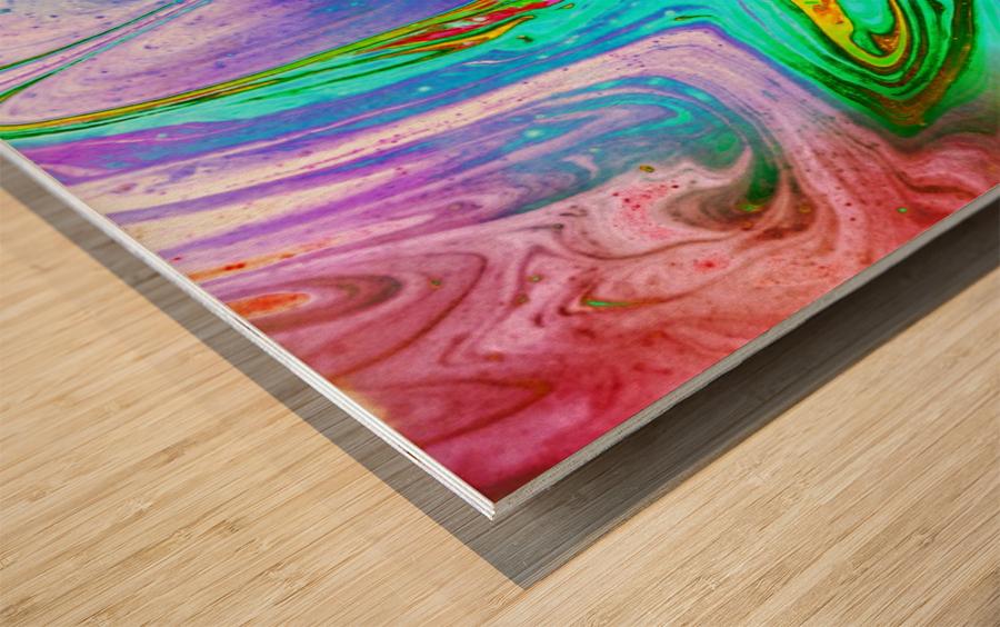 bubbles Reimagined 65 Wood print