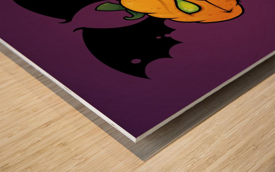 Punkin Monsta Wood print
