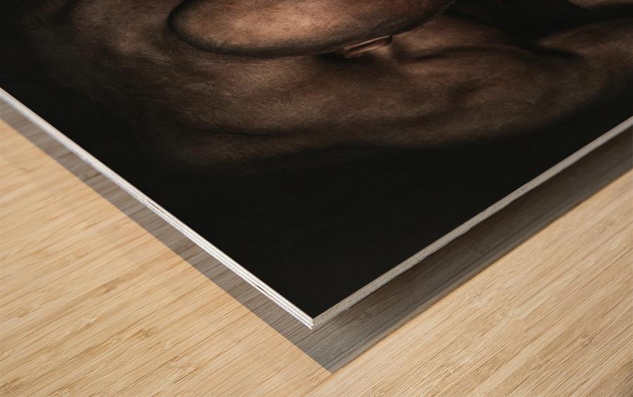 Boxed Wood print