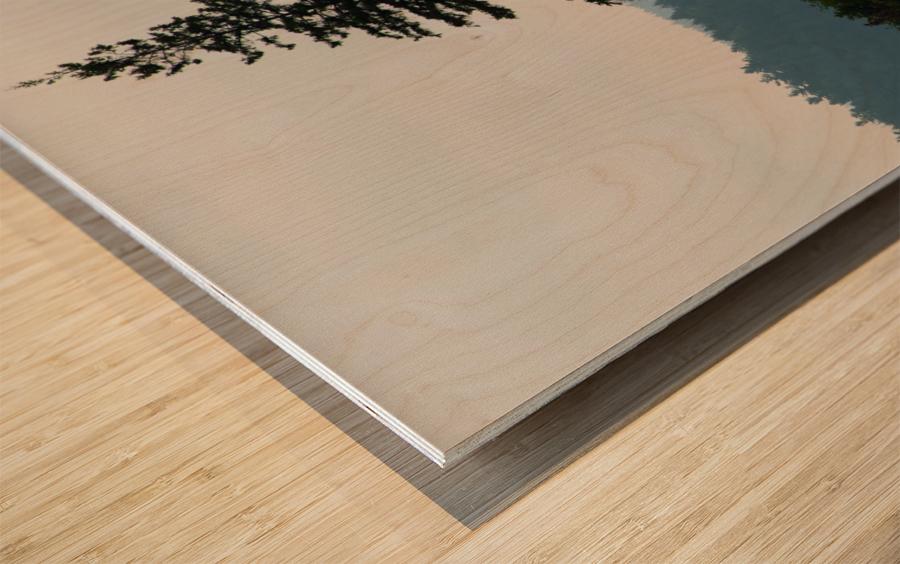 Lonely Tree Wood print