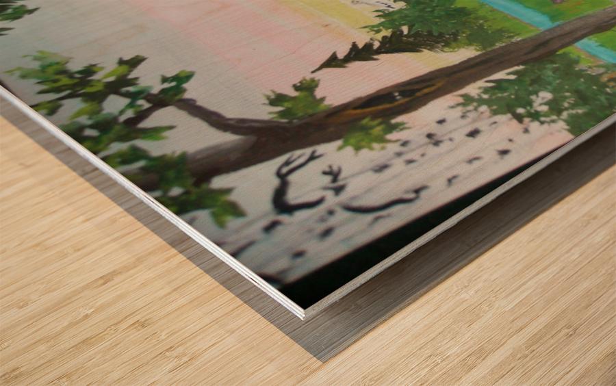 Fox Family Wood print