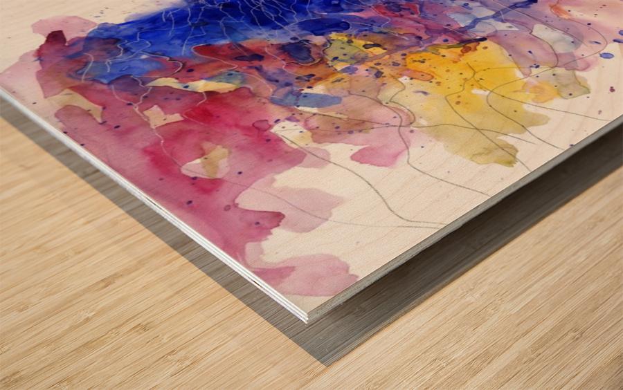 CAREFREE Wood print