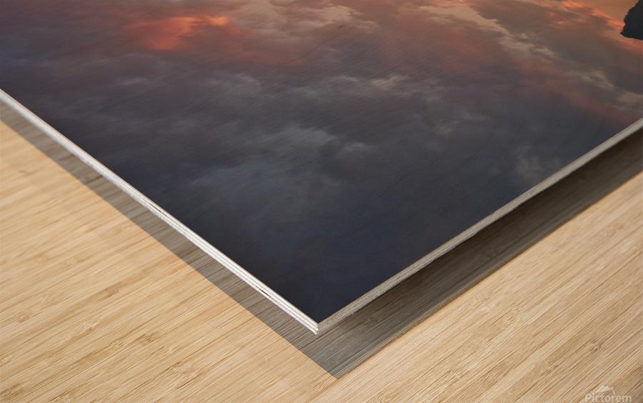 Li River Sunrise Wood print