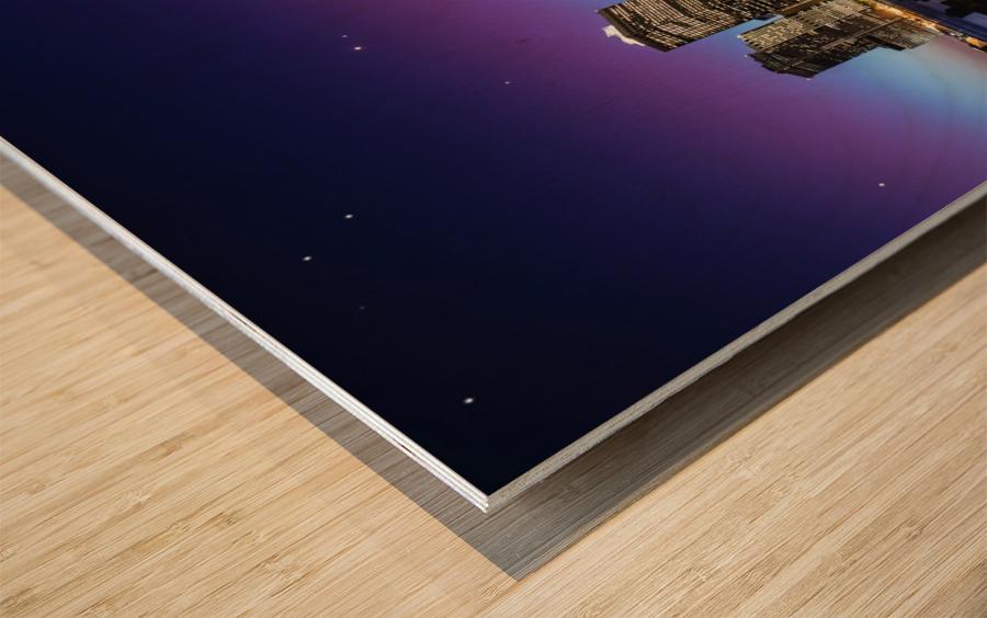 New York Sky Line Wood print