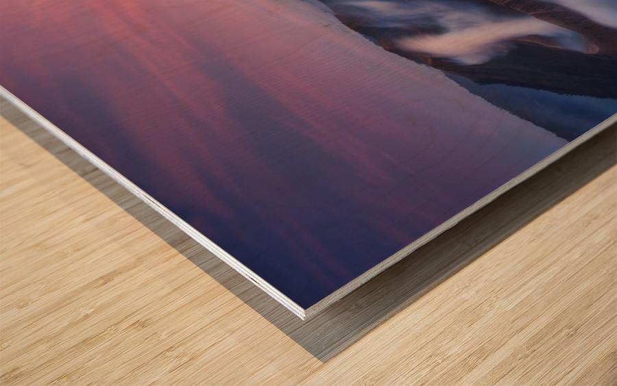 Bromo vs Semeru. Wood print