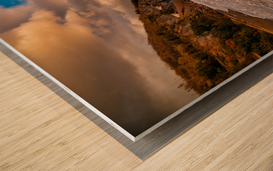 Raging Seas Wood print