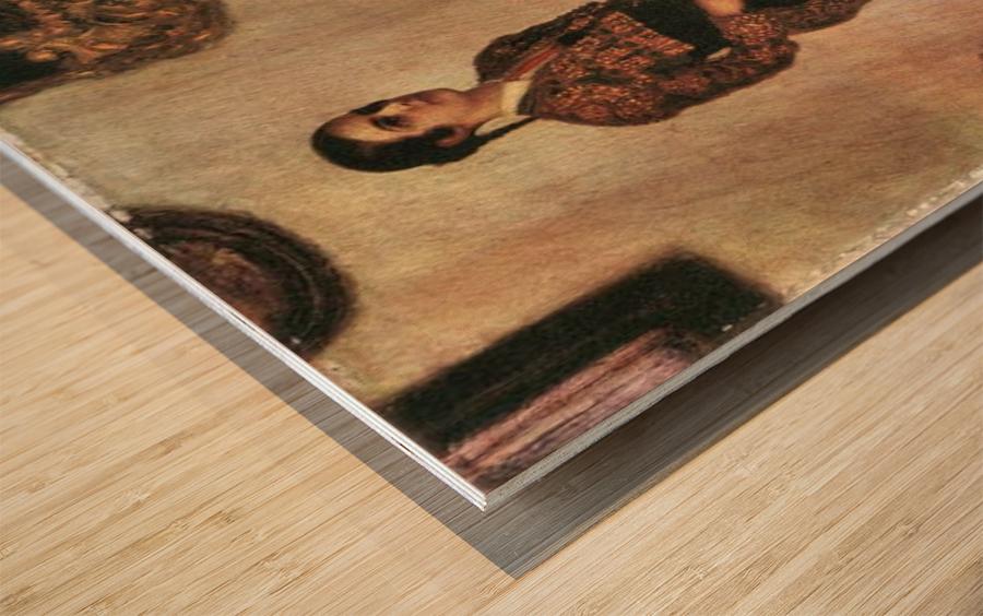 Mary as a bullfighter by Franz von Stuck Wood print