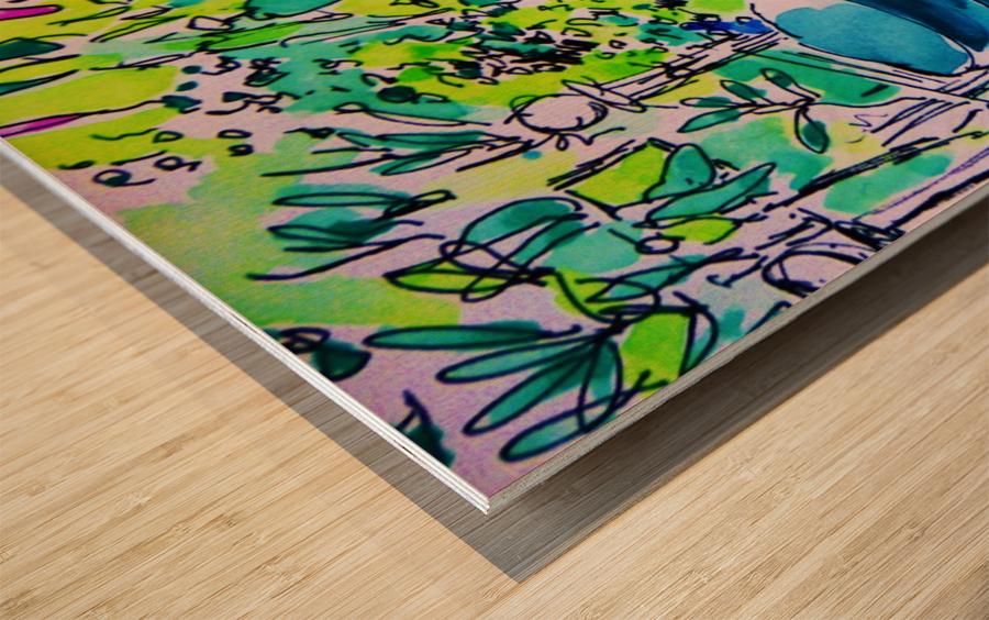 Summer Glory Wood print