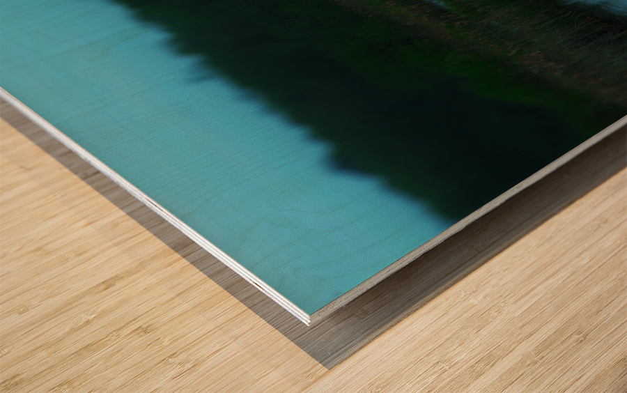 Azur Wood print