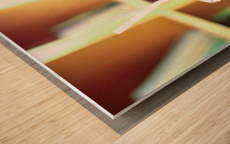 Herb juice. Wood print