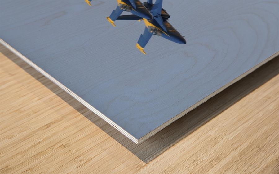 U.S. Navy flight demonstration squadron the Blue Angels. Wood print