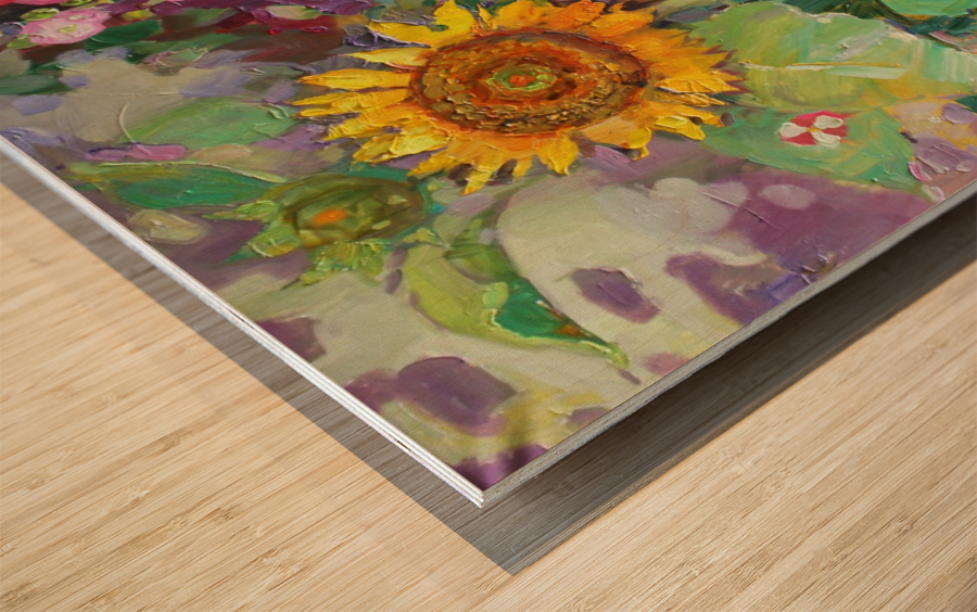 Solar rendezvous  Wood print