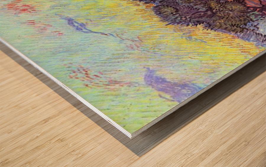 Olive Trees -2- by Van Gogh Wood print