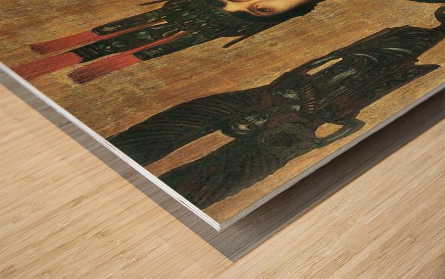 Pallas Athene by Franz von Stuck Wood print