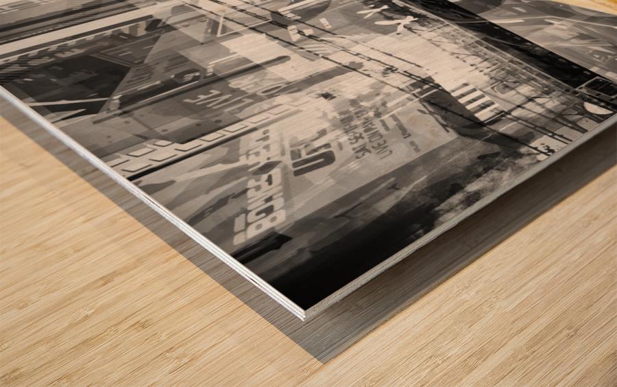 Modern Art NYC Collage Wood print