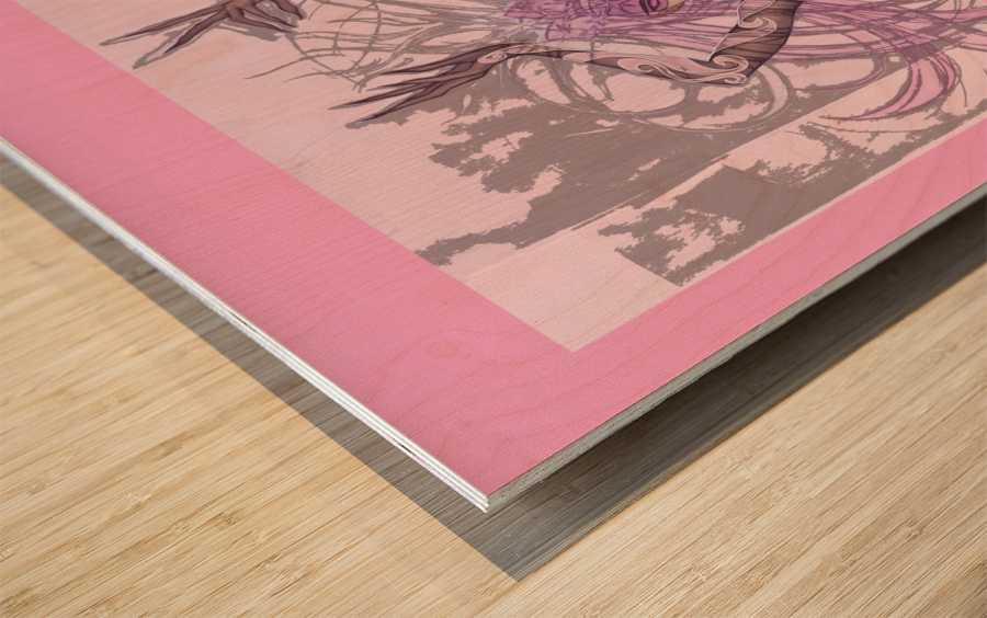 OeilDeCristal Wood print