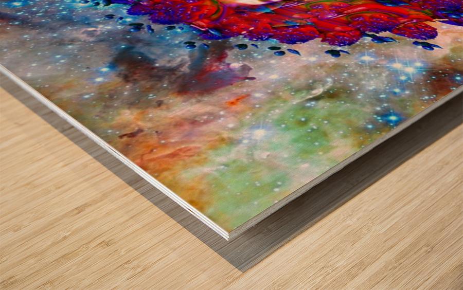 Space Vampire Wood print