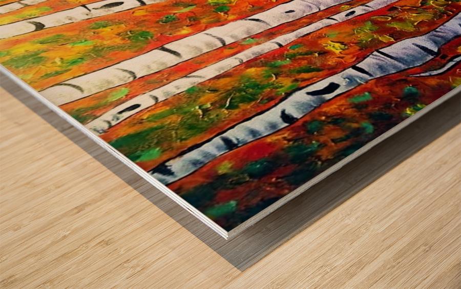Funky Fall Birch Wood print