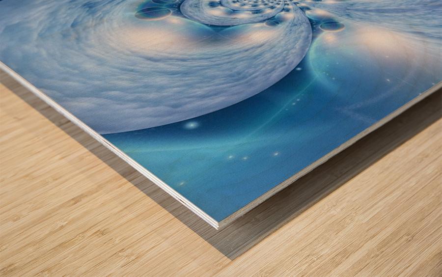 Planetarium Fractal Wood print