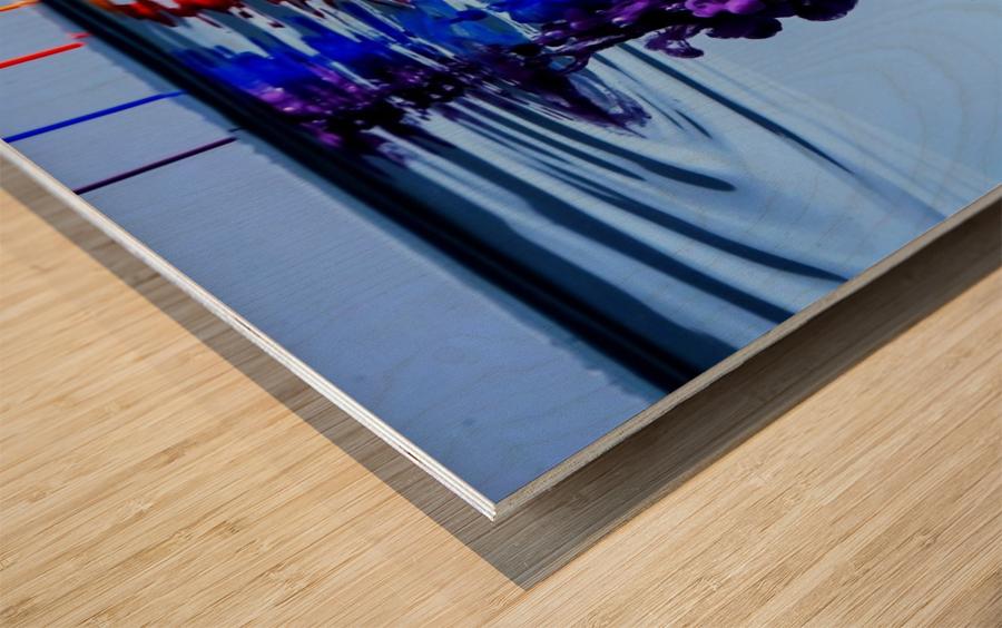 dribbles Wood print