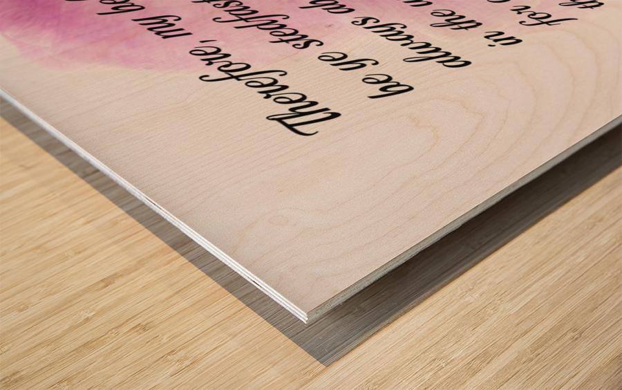 Be ye stedfast Wood print