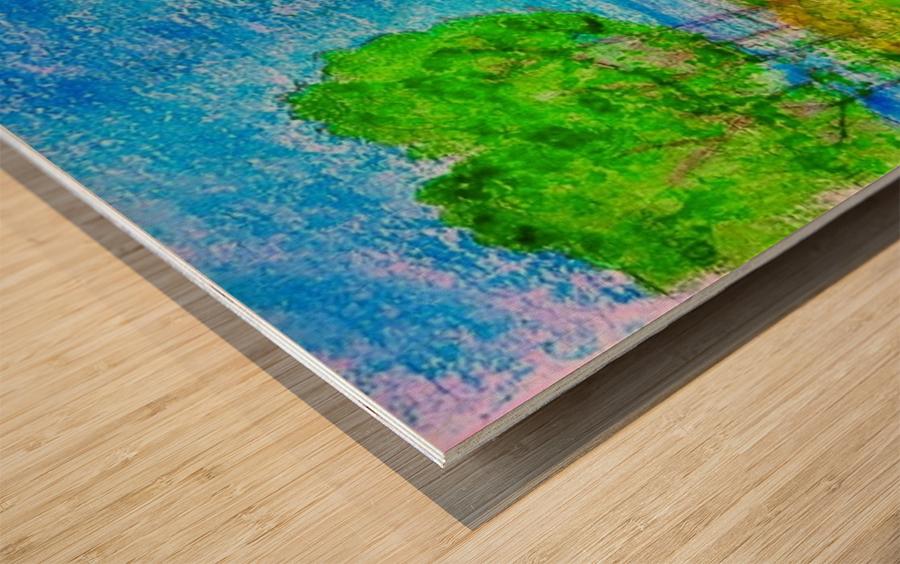 Rowboat Bliss Wood print