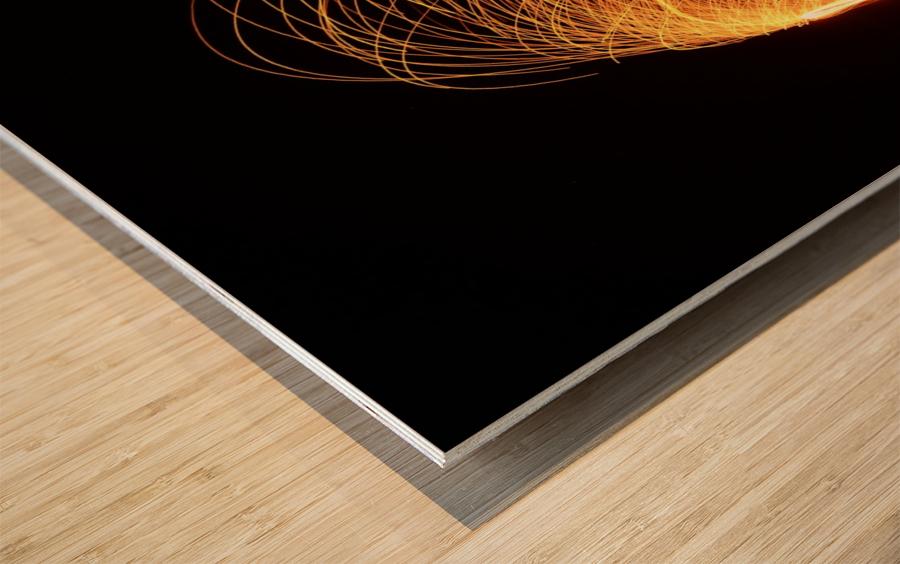 Majestic Flames Wood print