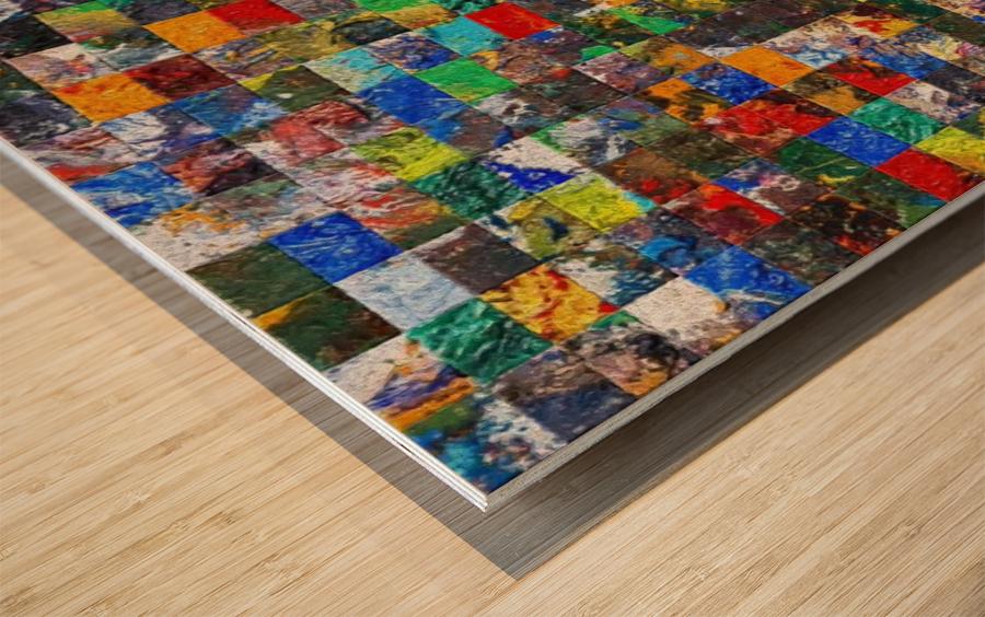 The Wall of Random Bricks Wood print