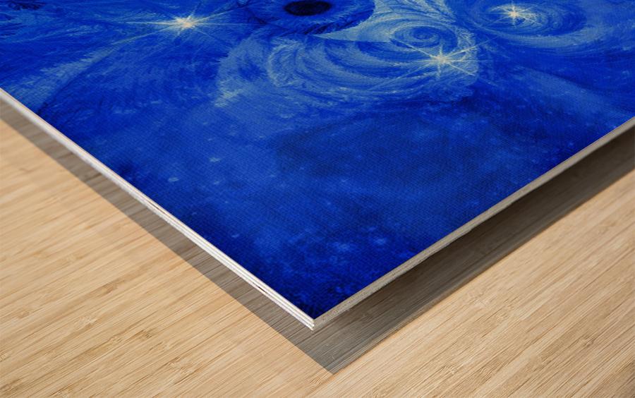 Eye and Stars Wood print