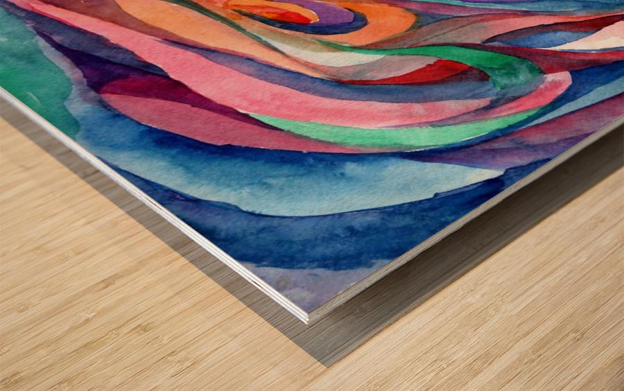 Abstract underwater world Wood print