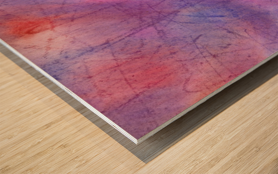 Abstract Mauve wave Wood print