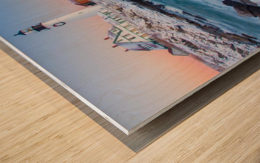Beacon Dawn Wood print