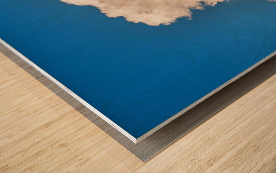 Atomic Cloud Wood print