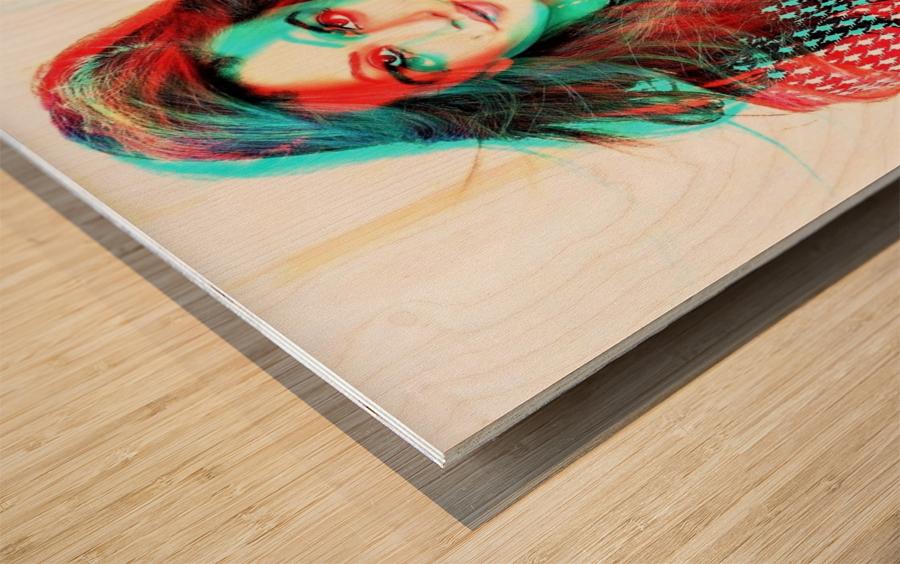The Model -  by Neil Gairn Adams  Wood print
