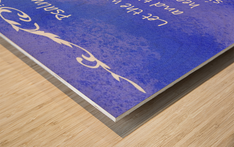 Psalm 19 14 3BL Wood print